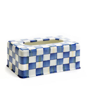 MacKenzie-Childs Royal Check Standard Tissue Box Cover